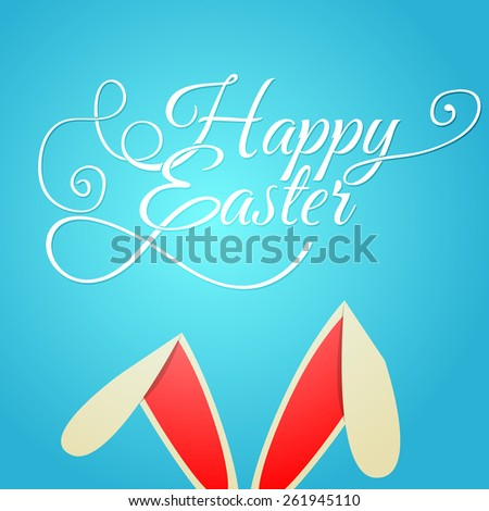 Vector illustration of Happy Easter Typographical Background - stock vector