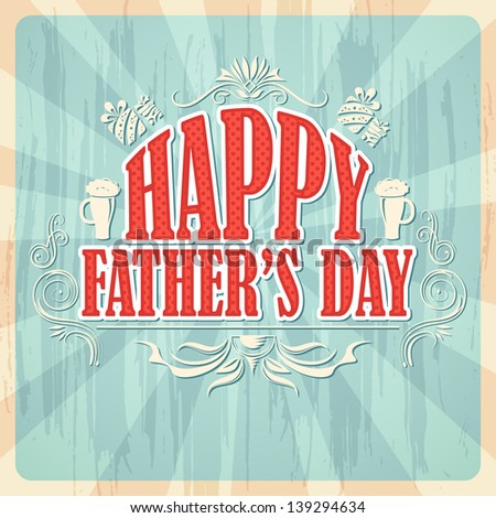 vector illustration of Happy Father's Day Background - stock vector