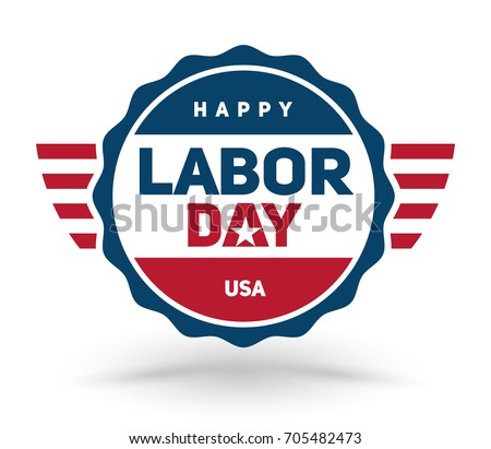 Vector illustration of Happy Labor day USA.