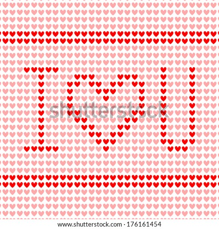 vector illustration of Happy Valentine's Day hearts - stock vector