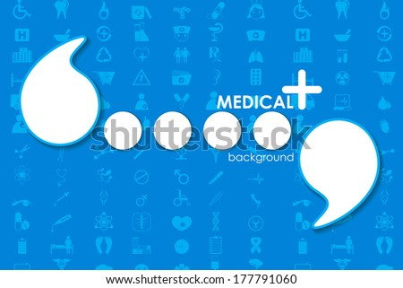 vector illustration of Healthcare and Medical template - stock vector