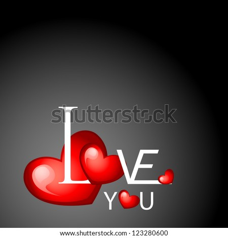 vector illustration of heart on love background - stock vector