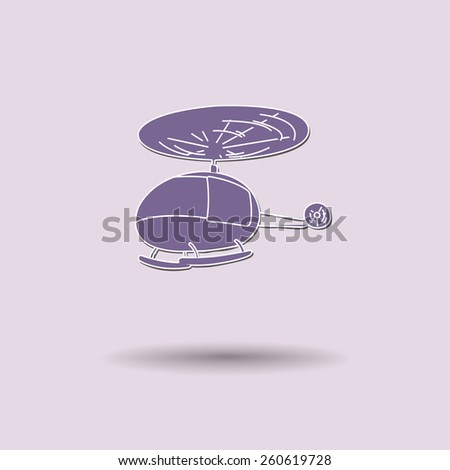 Vector illustration of  Helicopter color background. - stock vector