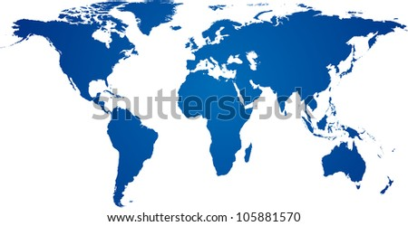 Vector illustration of high-detailded world map. - stock vector