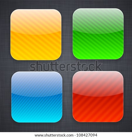 Vector illustration of high-detailed striped apps icon templates. - stock vector