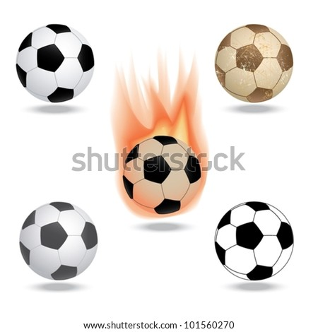 vector illustration of highly rendered soccer ball, football, isolated in white background. - stock vector