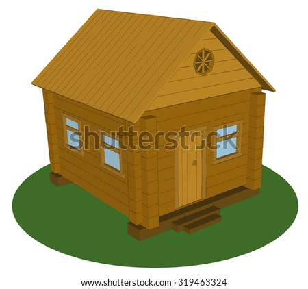 Vector  illustration of home village - stock vector