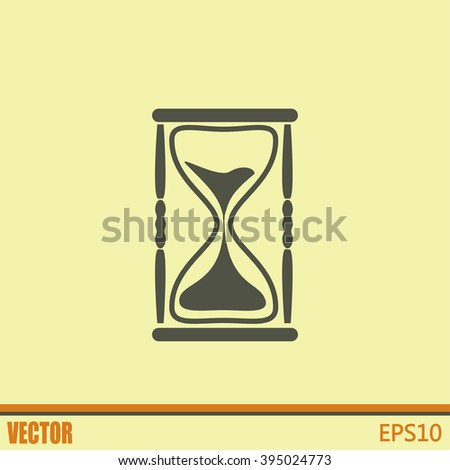 Vector illustration of hourglass