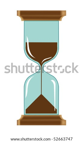 Vector illustration of hourglass - stock vector