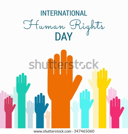 Vector illustration of Human Rights Day background.
