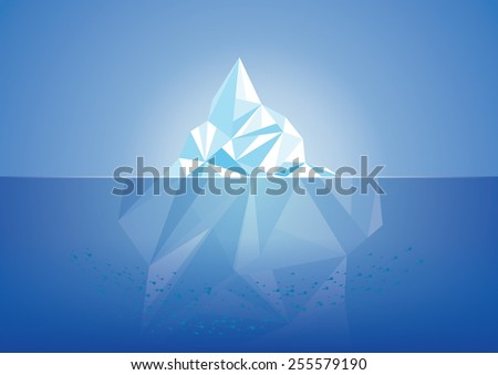 Vector illustration of iceberg. All elements are layered separately in vector file. Different colors in my profile. - stock vector