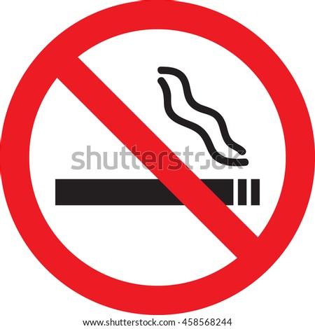 Vector illustration of Icon with No Smoking sign