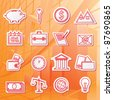 Vector illustration of icons on the subject of Finance - stock vector
