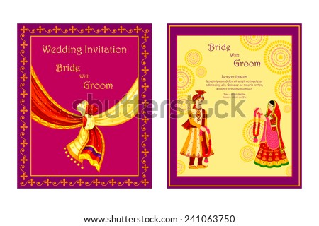 Wedding Card Design Images RoyaltyFree Images Vectors – Marriage Invitation Card Designs Indian