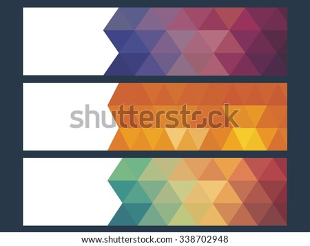 vector illustration of infographic options banner - stock vector