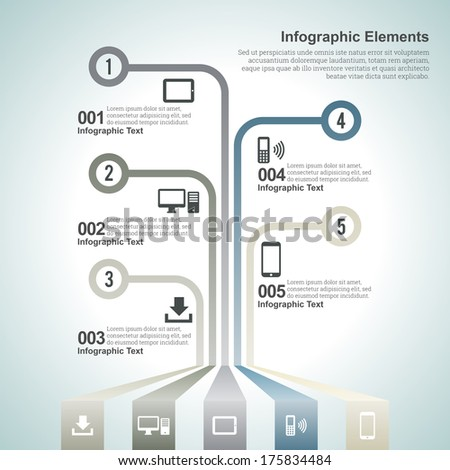 Vector illustration of information graphic, or infographic design elements. - stock vector