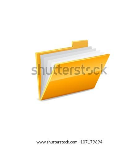 Vector illustration of interface computer folder. Vector - stock vector