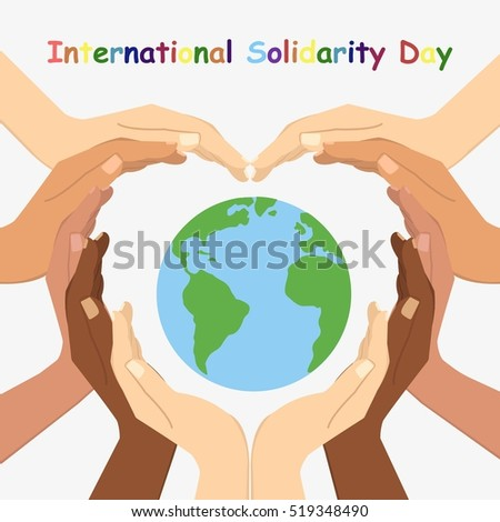 Vector illustration of International Day for Solidarity. Flat design