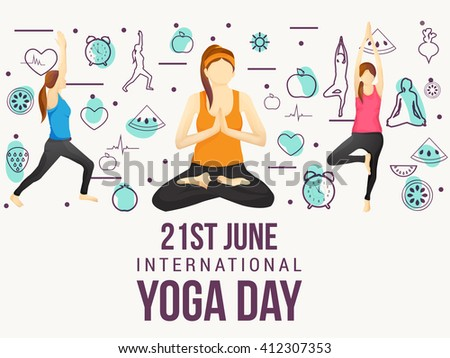 Vector Illustration Of International Yoga Day