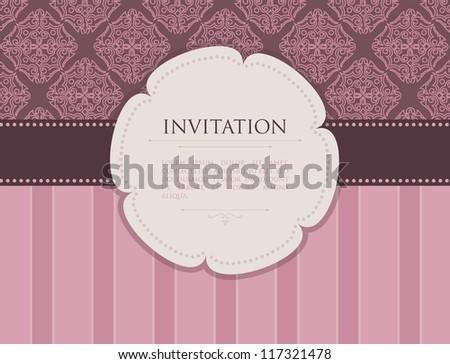 Vector illustration of Invitation - stock vector