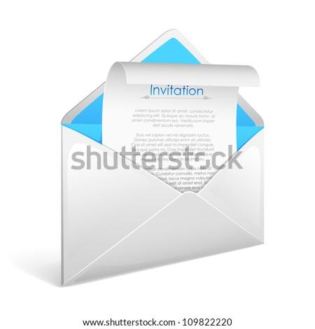 Vector illustration invitation letter envelope stock vector vector illustration of invitation letter in envelope stopboris Image collections