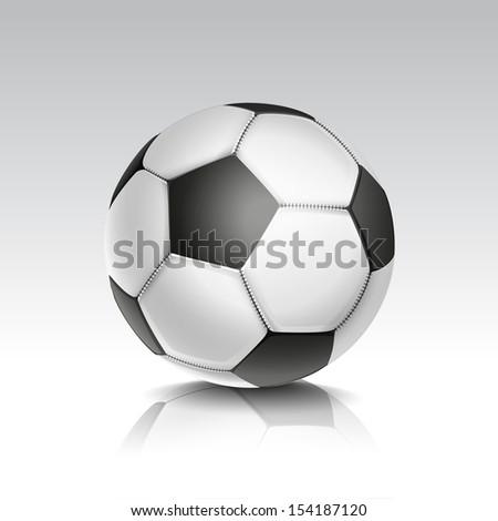 Vector Illustration of Isolated Football / Soccer Ball - stock vector