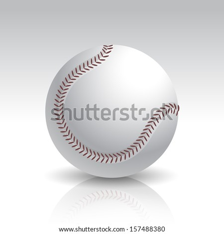 Vector Illustration of Isolated Realistic Baseball Ball