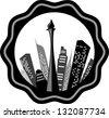 vector illustration  of Jakarta - stock vector