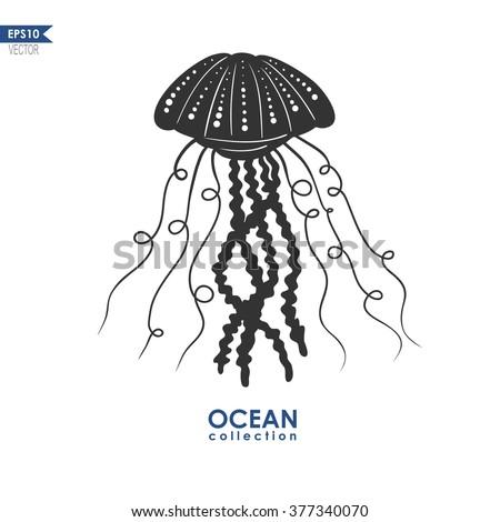 Jellyfish Silhouette Vector