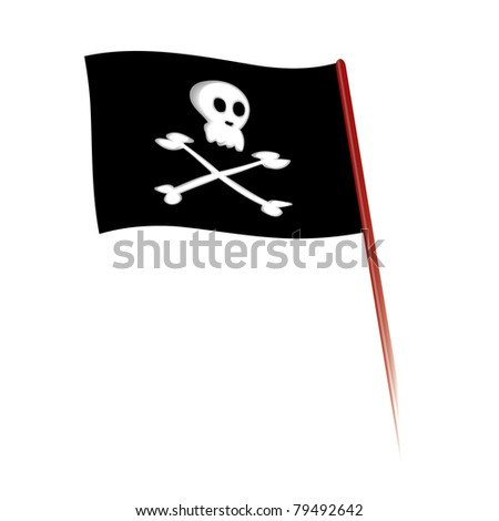 Vector illustration of Jolly Roger flag