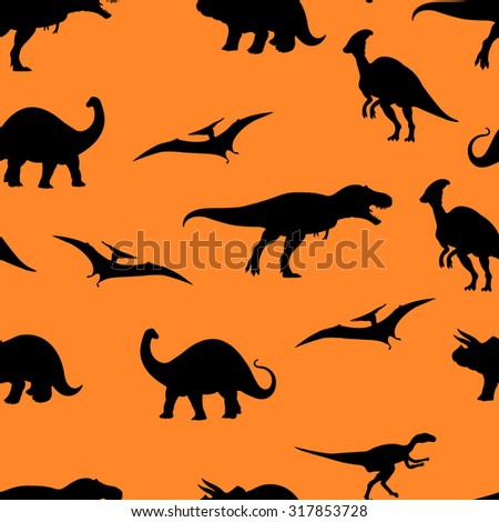 Vector illustration of Jurassic world seamless pattern background.