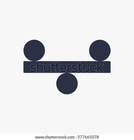 Vector illustration of justice scales - stock vector