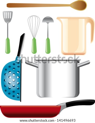 vector illustration of kitchen accessories