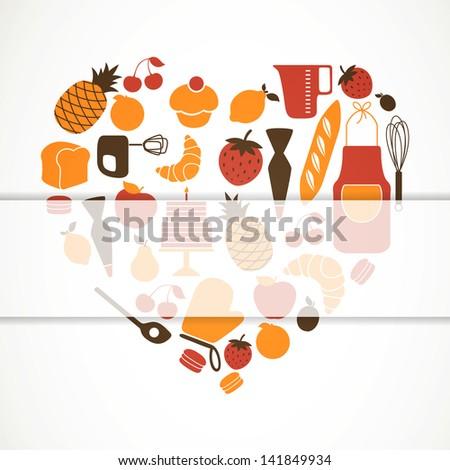 Vector Illustration of Kitchen Tools - stock vector