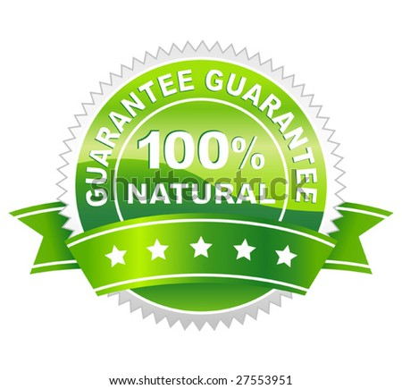 vector illustration of label natural - stock vector