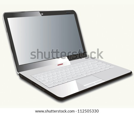 Vector Illustration of laptop Isolated on White Background. eps 8 . - stock vector