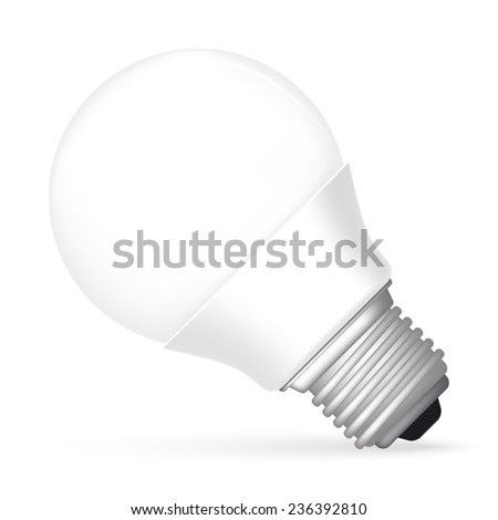 Vector illustration of led bulb. - stock vector