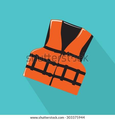 Vector illustration of life vest - stock vector