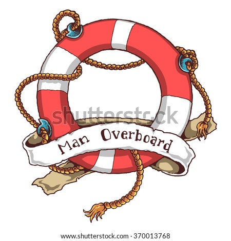 Vector Illustration Of Lifebuoy - stock vector