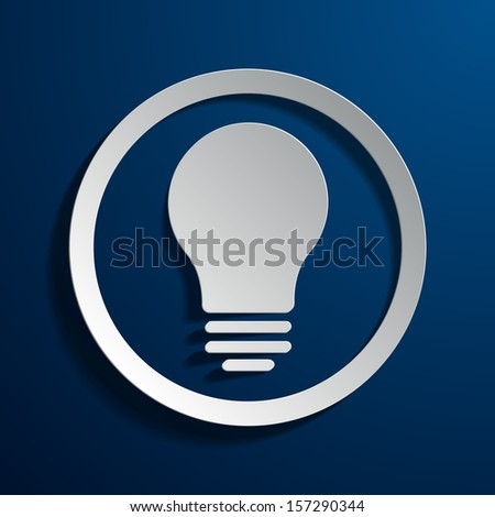 vector square blue icon lighting bulb. vector illustration of light bulb icon square blue lighting