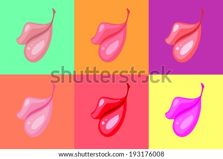 Vector illustration of lips background