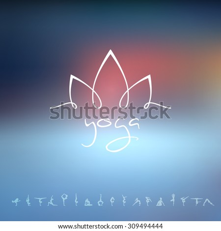 Vector illustration of Logo for a yoga studio - stock vector