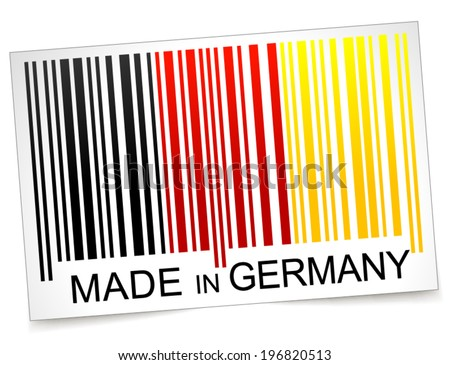 Vector illustration of made in germany barcode concept