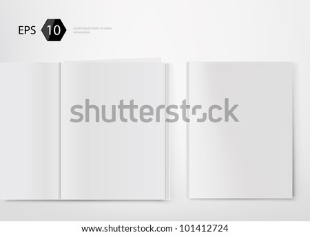 Vector illustration of magazine template for designers - stock vector
