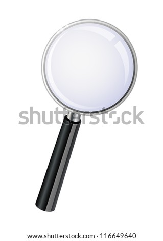 Vector illustration of magnifying glass - stock vector