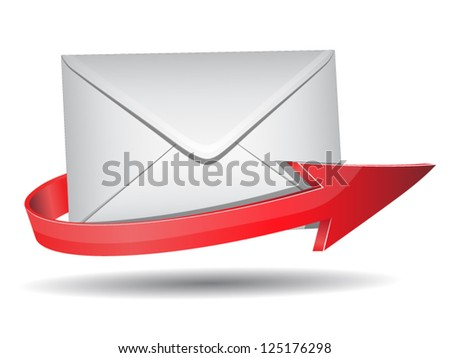Vector illustration of mail - stock vector