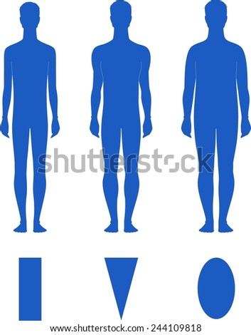 Stock Images similar to ID 345408902 - men body types