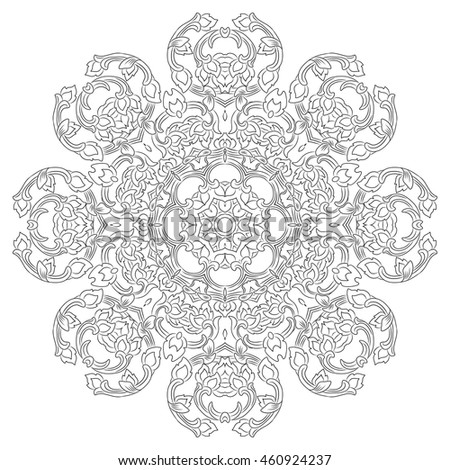 vector illustration of mandala, vintage decorative element. EPS