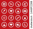 Vector illustration of medic icons. - stock
