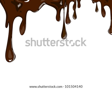 Vector illustration of melting chocolate - stock vector